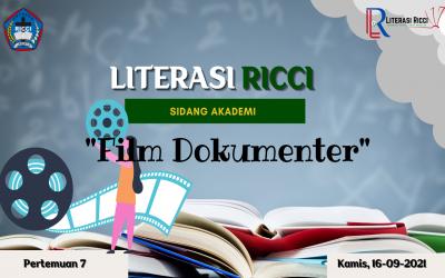MATERI LITERASI 7 : FILM DOKUMENTER