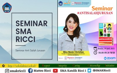 SMA Katolik Ricci 1 Jakarta Adakan Webinar Bertajuk #ANTISALAHJURUSAN